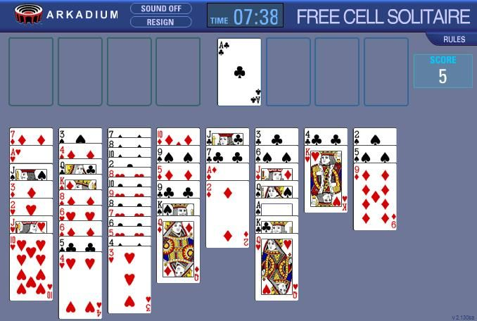 free freecell solitaire games online